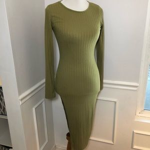 Nasty Gal Ribbed Maxi Dress